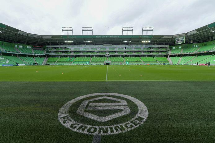 04-10-2020: Voetbal: FC Groningen v Ajax: Groningen General view of stadium of FC Groningen Euroborg
