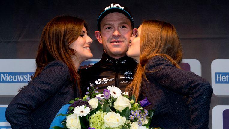 Ian Stannard na zijn overwinning van vorig jaar in de Omloop.