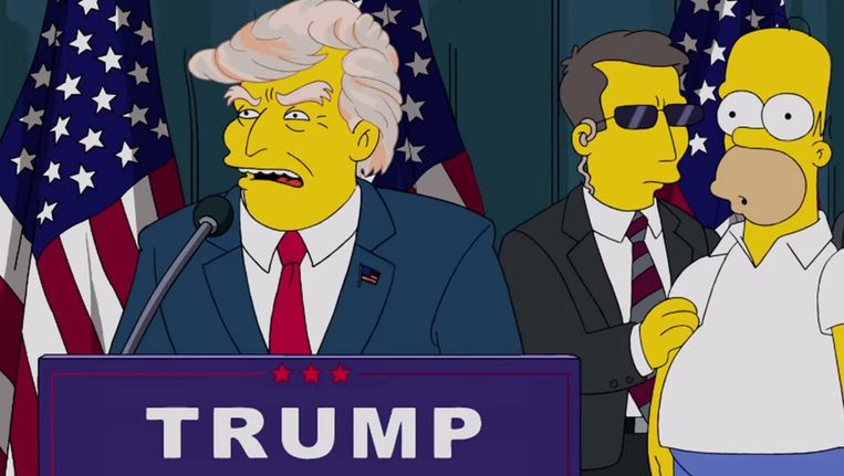 Trump en Homer Simpson Beeld Screenshot