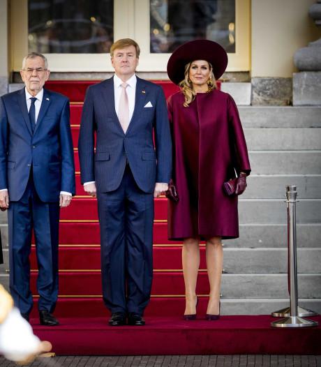 Koningspaar verwelkomt president Oostenrijk op Noordeinde