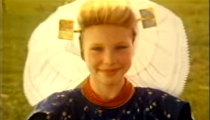 Screenshot uit de alom bekende reclame van Zeeuws Meisje.