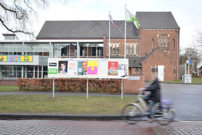Verkiezingsposters in Hoogerheide.