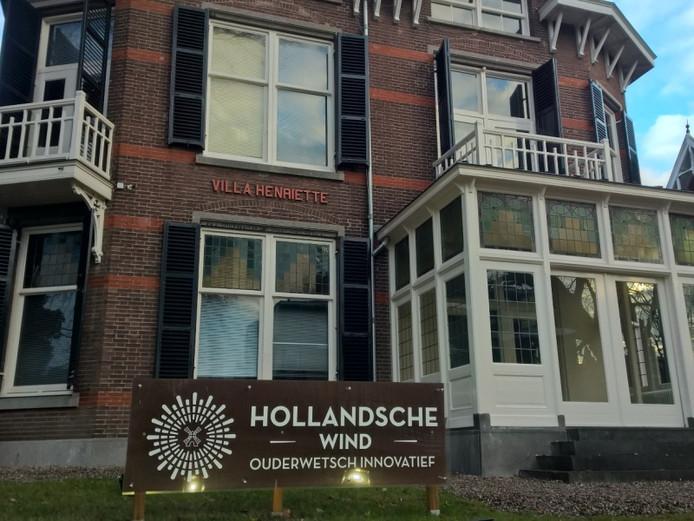De monumentale villa van Hollandsche Wind in Oosterbeek, daags nadat voor tonnen beslag was gelegd op de rekeningen van het bedrijf, was het pand verlaten.