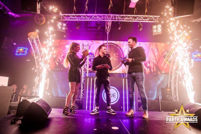 DJ Timski tijdens de uitreiking van de Party Award.