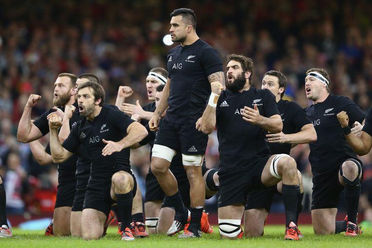 De All Blacks. 'Vraag een Nieuw-Zeelander naar zijn drie favoriete sporten en hij zegt: rugby, rugby en rugby.' Beeld Getty Images