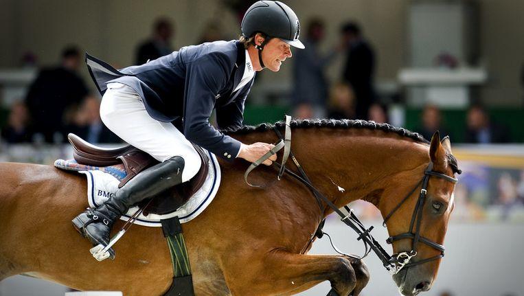 Jeroen Dubbeldam hier op paard Simon, vorig jaar. Beeld ANP