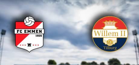 LIVE | Willem II staat voor 'topduel' bij FC Emmen