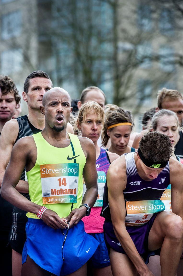 Mohamed Ali eerder dit jaar bij de Stevensloop in Nijmegen. Beeld Koen Verheijden