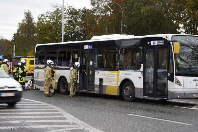 De schade aan de bus was groot.