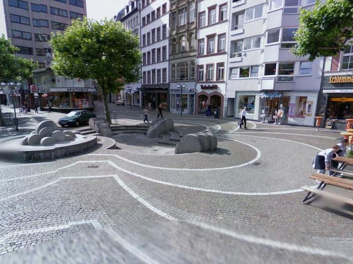Het plein waar het misbruik plaats zou hebben gevonden