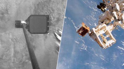 VIDEO. Kijk hoe harpoen voor het eerst ruimteafval spietst