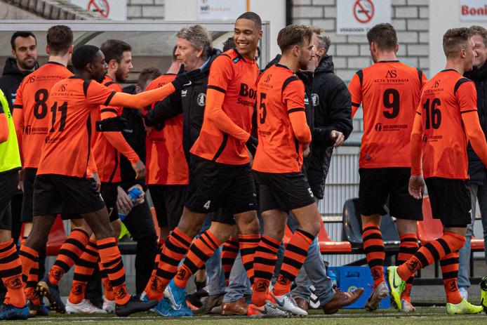 Sparta Nijkerk is ondanks de magere uitslagen van de laatste weken nog steeds favoriet in de Veluwse derby bij DVS'33.