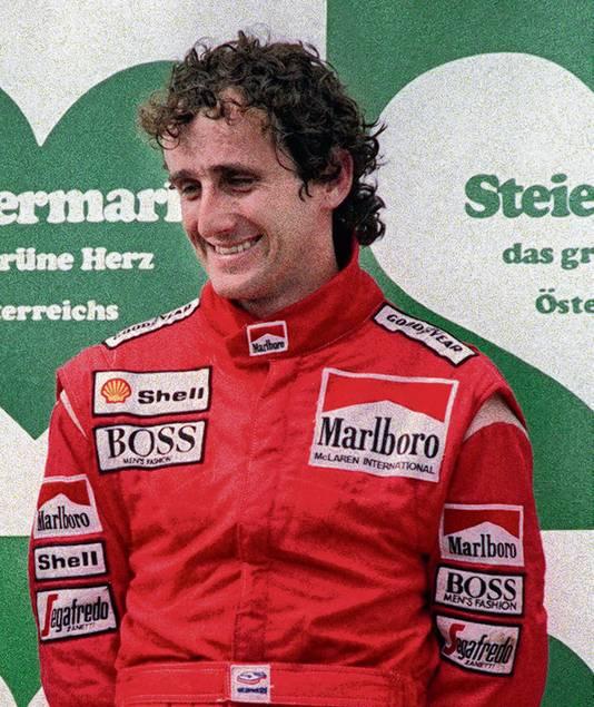 Alain Prost, net als Hamilton 41 keer goed voor de snelste ronde in een GP.