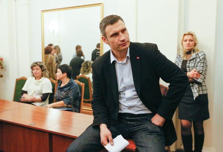 Regeringscriticus Klitsjko gisteren. Beeld null