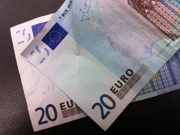 Biljetten van 20 euro. Foto Erna Lammers
