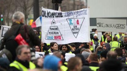 Magere opkomst voor zevende actieweekend gele hesjes in Frankrijk, honderdtal betogers in Charleroi