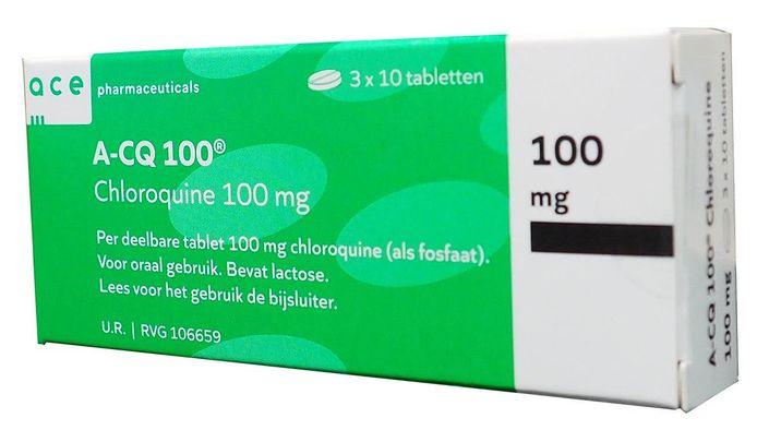 Het medicijn Chloroquine.