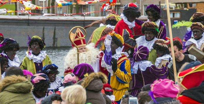 De intocht van Sinterklaas en zijn gevolg vorig jaar in Tilburg.