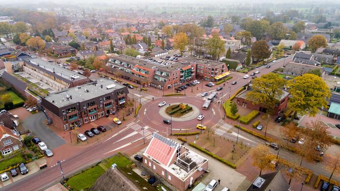 Het centrum van Staphorst met het winkelhart