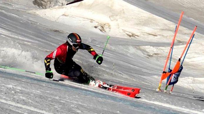 Sam Maes trainde deze zomer op de gletsjers in Oostenrijk, Zwitserland en Italië.