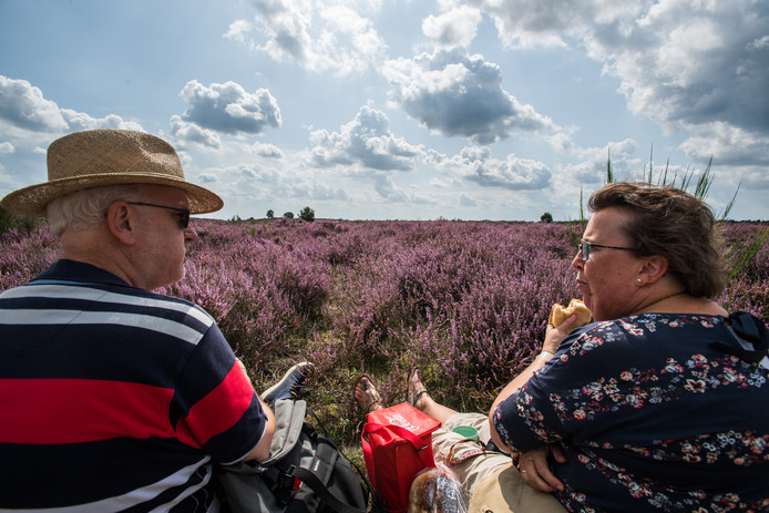 Hans en Gerrike Meijers uit Kockengen genieten van de fraaie natuur.