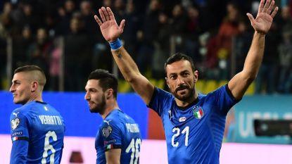 EK-KWALIFICATIES. 36-jarige cultheld scoort twee keer in Italiaanse doelpuntenkermis - Bizarre ontknopingen in Zwitserland en Noorwegen
