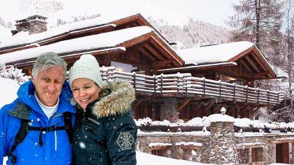 Wat een luxe: in deze poepchique chalet verblijven Filip en Mathilde op skiverlof