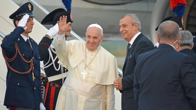 Paus Franciscus in Albanië