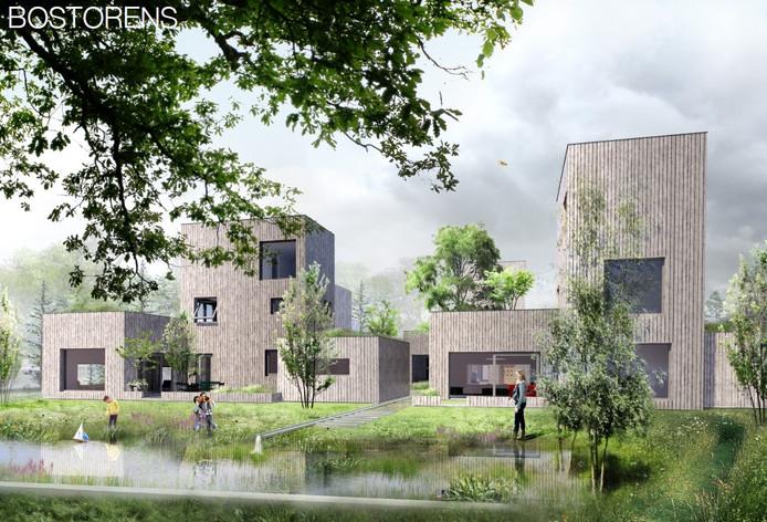Plan Bostorens van Bostorens van Building4you Developments B.V. kan in 2020 gebouwd worden in Bosrijk, Meerhoven in Eindhoven.