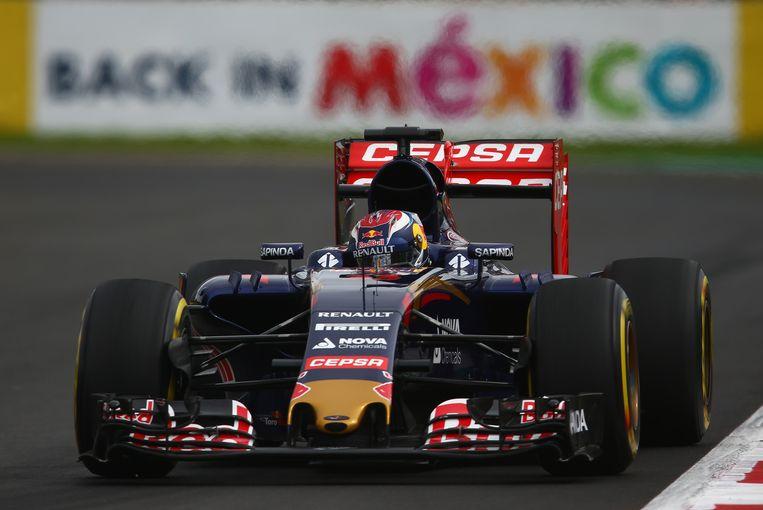 Verstappen tijdens de race in Mexico. Beeld getty