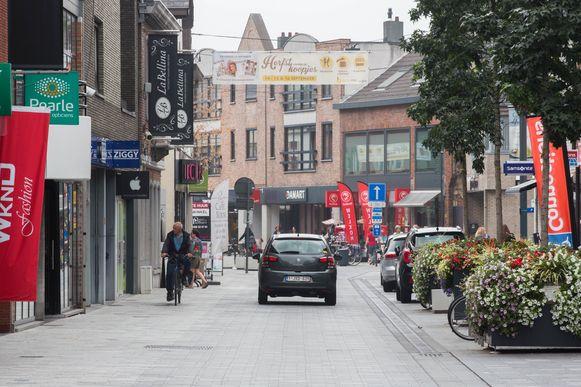 De Kerkstraat in Lommel.