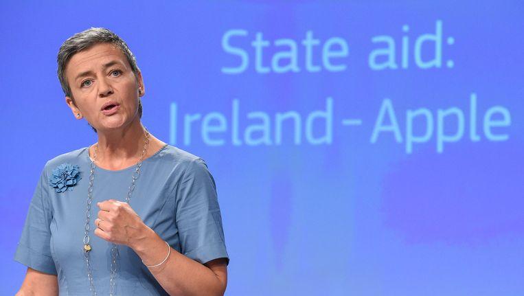 Eurocommissaris voor concurrentiezaken, de Deense Margrethe Vestager. Beeld AFP
