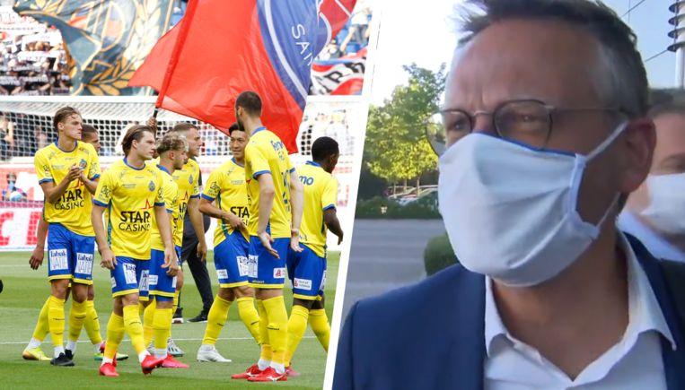 Waasland-Beveren blijft in 1A. Rechts: Pro League-voorzitter Peter Croonen.