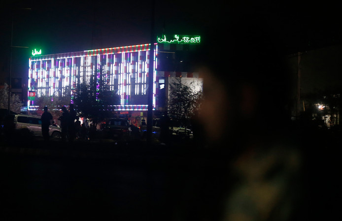Het Dubai City trouwcentrum in Kaboel waar de bomaanslag plaatsvond.