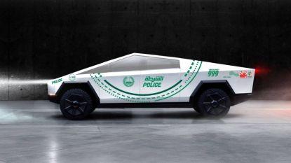 Na de Lamborghini en de Aston Martin gaat politie Dubai nu voor een Tesla Cybertruck