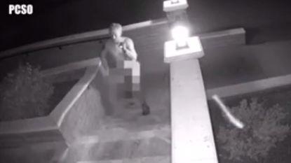 VIDEO: Poedelnaakte inbreker blijkt buurman
