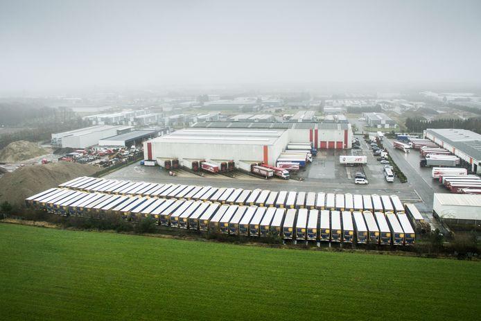Het industrieterrein in Opglabbeek.