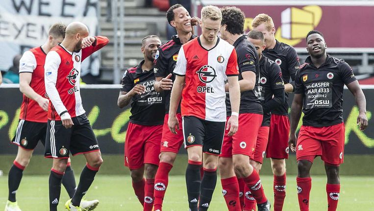 Tegen Excelsior kwam Feyenoord tekort. De druk om zondag beter te presteren is groot Beeld anp