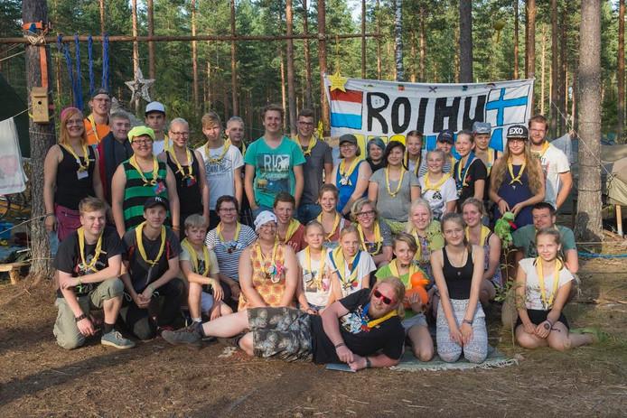 De Explorers van scouting Azoelen Den Ham-Vroomshoop hebben veel vrienden gemaakt tijdens hun deelname aan de Finnjamboree Roihu International.
