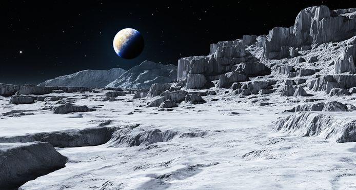 Aarde gezien vanaf de maan.