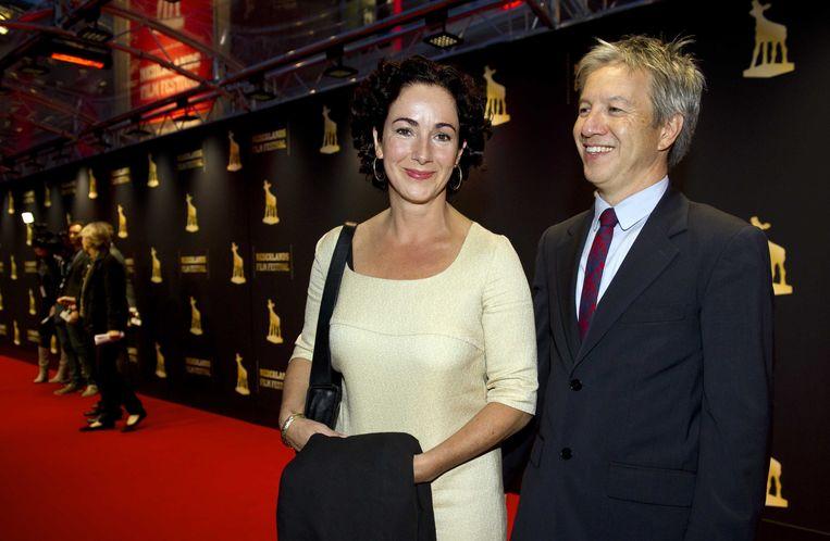 Robert Oey en zijn vrouw Femke Halsema. Beeld ANP Kippa
