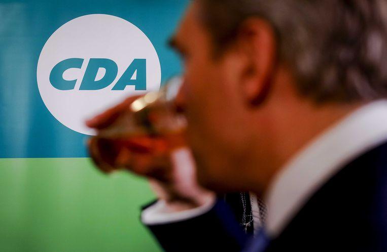 Sybrand Buma van het CDA tijdens de uitslagenavond van de Provinciale Statenverkiezingen en de waterschapsverkiezingen, 20 maart 2019. Beeld ANP