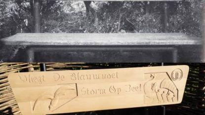 Zitbankjes met spreuken van Rodenbach in ere hersteld