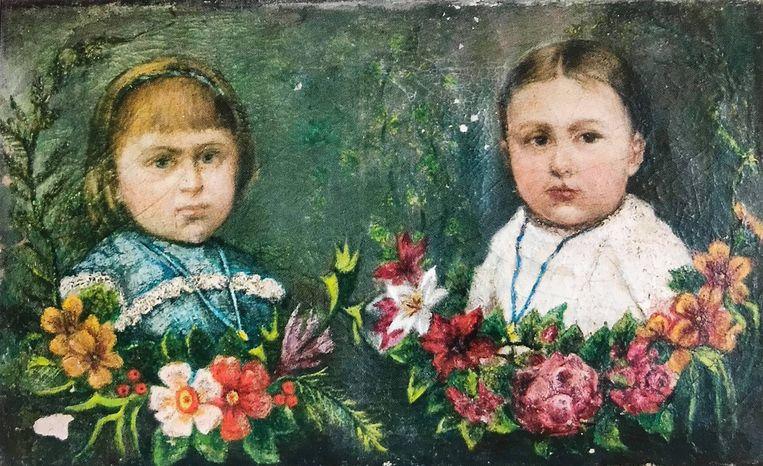 Pieter Daens maakte een schilderij van Maria en Anna Daens, zijn dochters.