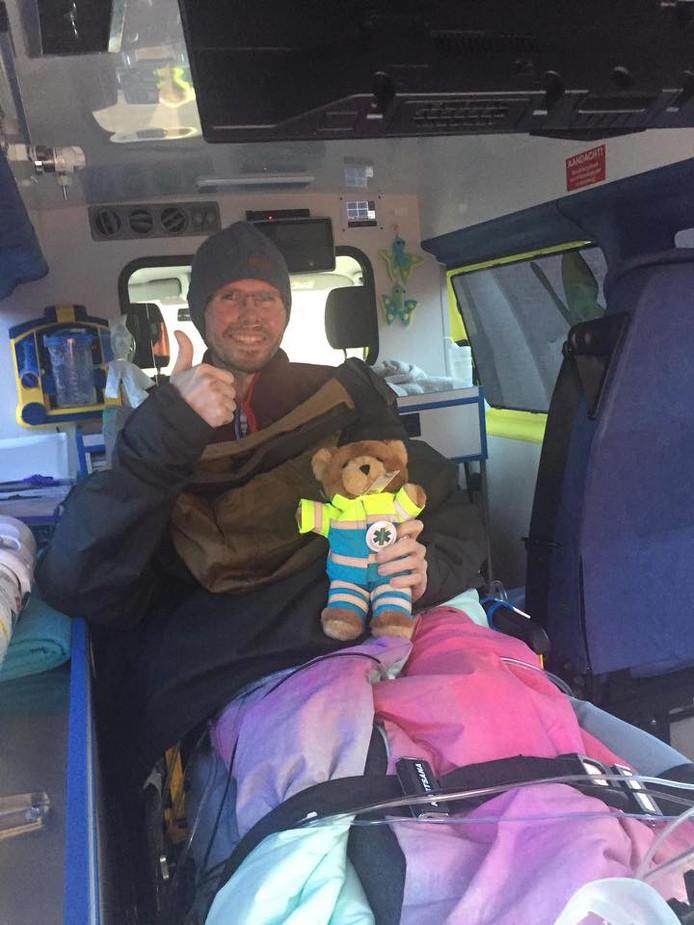 Grâce aux Ambulances Wens, Tom a pu se rendre sur le chantier de sa maison en construction dans laquelle il n'aura malheureusement jamais l'occasion de vivre.
