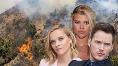 """""""Oh no!"""" Beroemdheden vrezen voor miljoenenwoningen in Californische bosbranden"""
