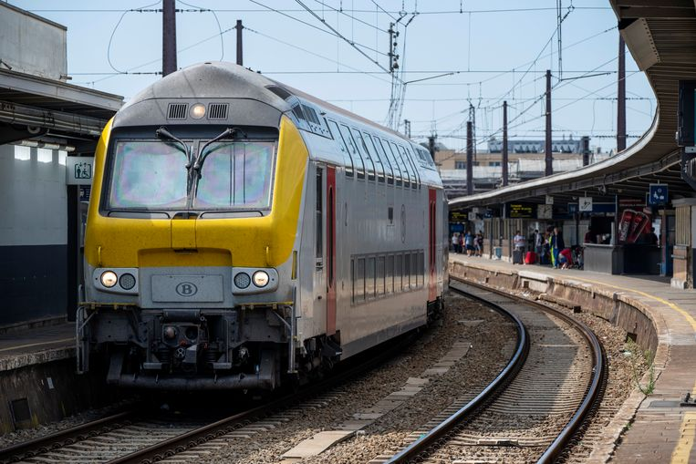 Beeld ter illustratie, spoorwegverbinding tussen station Brussel-Noord en station Brussel-Zuid.