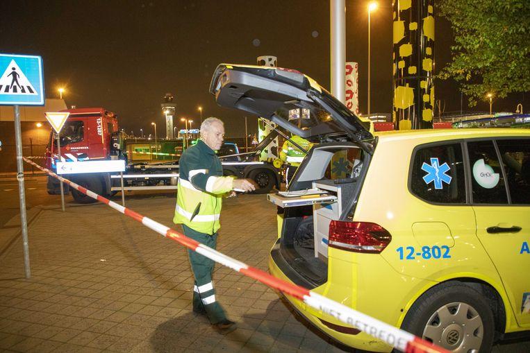 Hulpdiensten bij Schiphol. Beeld ANP
