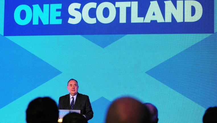 e Schotse premier Alex Salmond heeft bekendgemaakt dat hij opstapt, nadat Schotland in het referendum tegen onafhankelijkheid heeft gestemd. Beeld epa