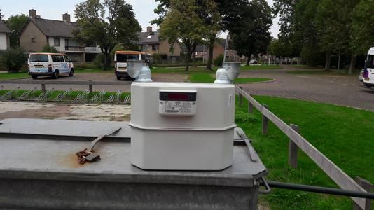 Een net geplaatste gasmeter bleek te lekken. Liander heeft hem vervangen voor een nieuwe.